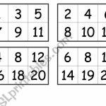 Numbers Bingo Cards (From 1 To 20)   Esl Worksheetcreguen | Printable Bingo Cards 1 20