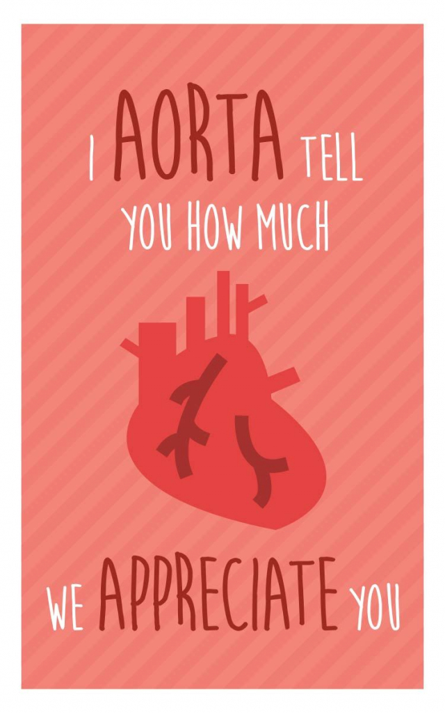 "Nurse Week Appreciation Mini-Card - Printable Download - ""i Aorta 