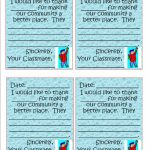 Oceans Of Teaching Ideas: Compliment Cards | Printable Compliment Cards For Students
