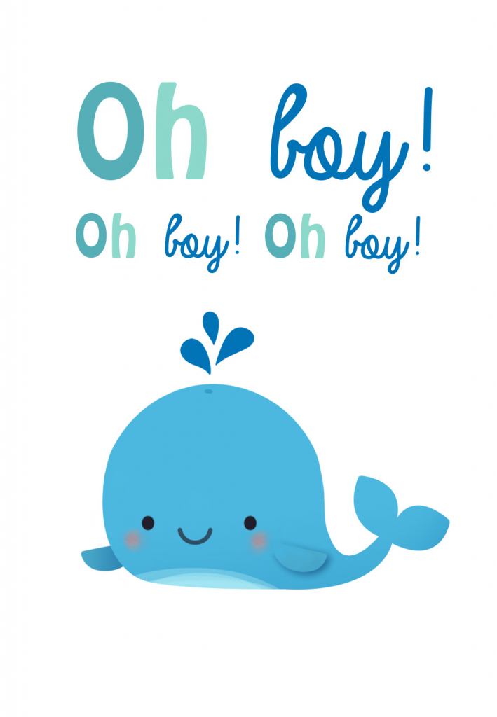 Oh Boy - Baby Shower & New Baby Card | Greetings Island | Baby Greeting Cards Printable