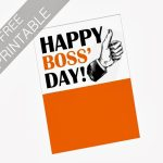 Oil And Blue: Free Printables   Happy Boss' Day Card | Party Ideas | Bosses Day Cards Printable