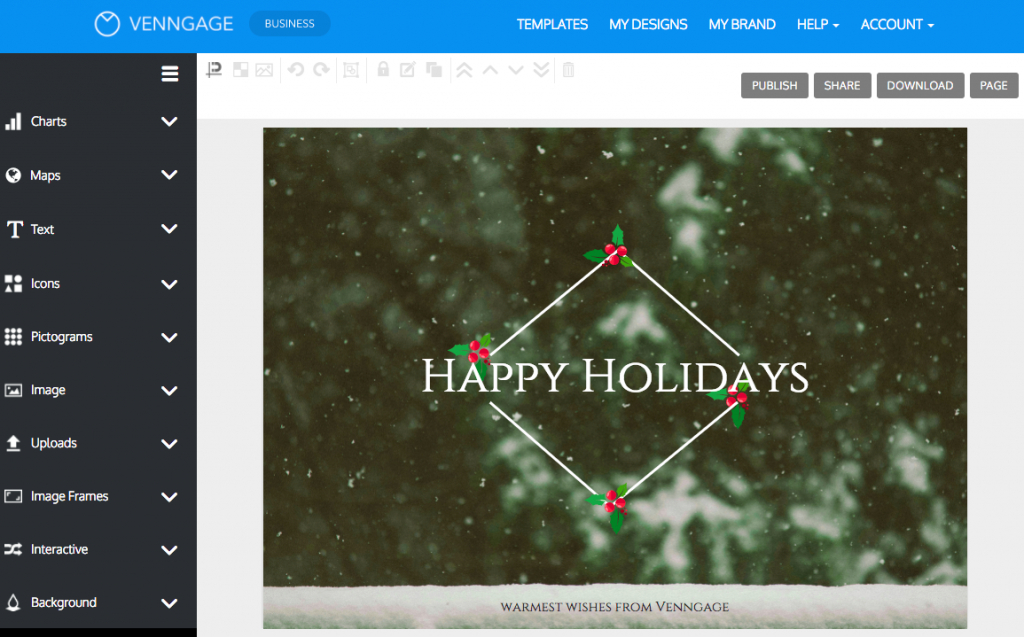 Online Card Maker - Create A Custom Card With Venngage | Free Online Christmas Photo Card Maker Printable
