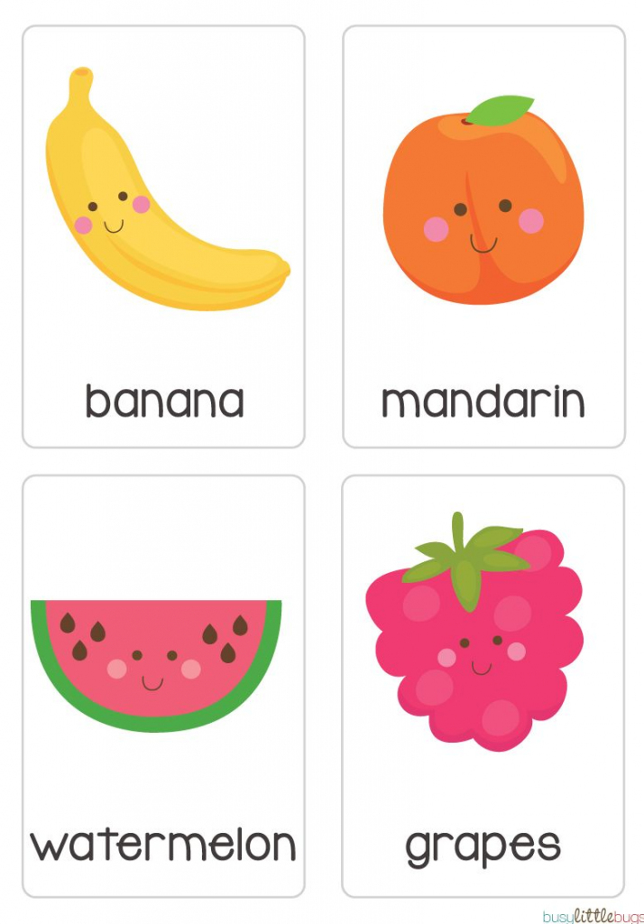 """Our Set Of Printable """"fruit & Vegetable Flash Cards"""" Are A Great 