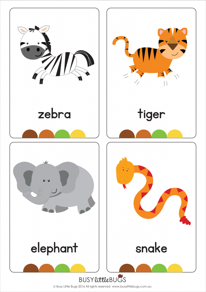 "Our Set Of Printable ""jungle Animal Flash Cards"" Are A Great 