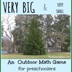 Outdoor Math Game: Exploring Size   The Measured Mom | Math 24 Printable Cards