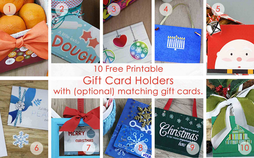 Over 50 Printable Gift Card Holders For The Holidays | Gcg | Free Printable Xmas Cards Download