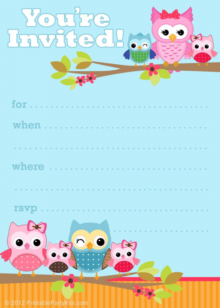 Owl Birthday Cards To Print For Free | Click On The Free Printable | Customized Birthday Cards Free Printable