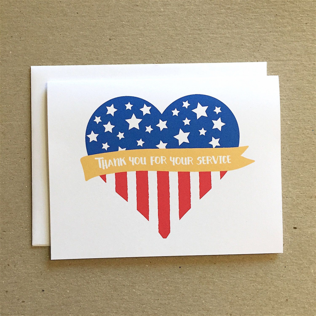 Patriotic Card, Thank You For Your Service, Veterans Day Cards | Free Printable Military Greeting Cards
