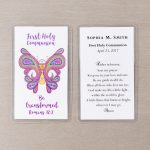 Personalized First Communion Prayer Cards | The Catholic Company | First Holy Communion Cards Printable Free
