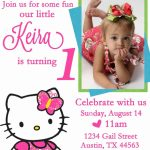 Personalized Hello Kitty Birthday Invitations   | Free Printable | Free Printable Personalized Birthday Invitation Cards