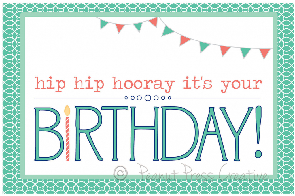 Personalized Printable Birthday Cards - Kleo.bergdorfbib.co | Happy Birthday From All Of Us Printable Cards