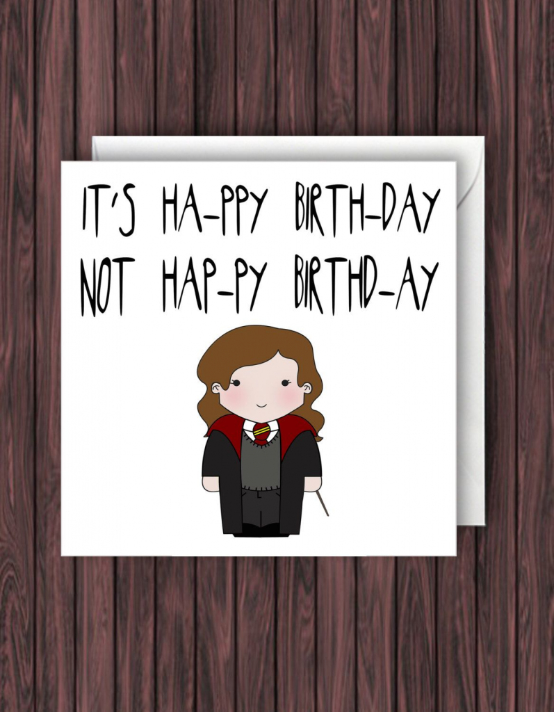 Pin Van Sophie Van Weelden Op Handletteren - Harry Potter Birthday | Harry Potter Birthday Card Printable