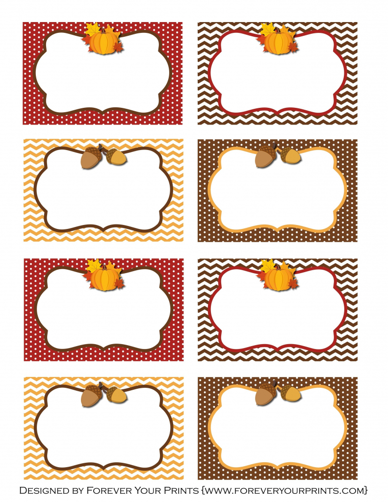 Pinirene Bortolussi On Thanksgiving | Free Thanksgiving | Printable Table Name Cards For Thanksgiving