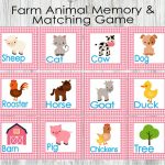 Pink Farm Animal Matching And Memory Game. Printable Game For | Etsy | Animal Matching Cards Printable
