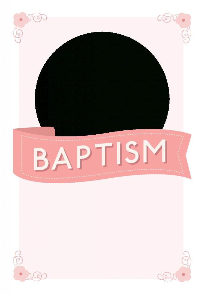 Pink Ribbon - Free Printable Baptism & Christening Invitation   Free Printable Baptism Greeting Cards