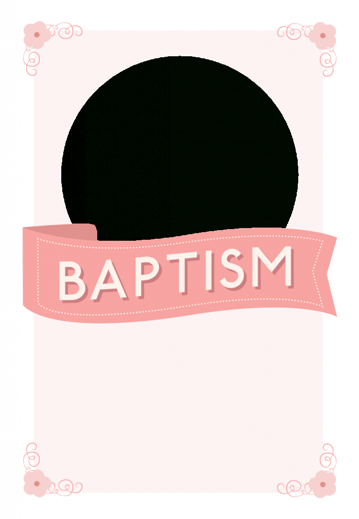 Pink Ribbon - Free Printable Baptism & Christening Invitation | Printable Baptism Christening Cards
