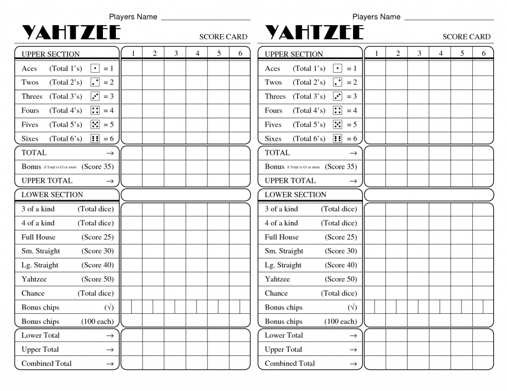 Pinkristi Jezek On Games | Yahtzee Score Card, Yahtzee Score | Farkle Score Card Printable