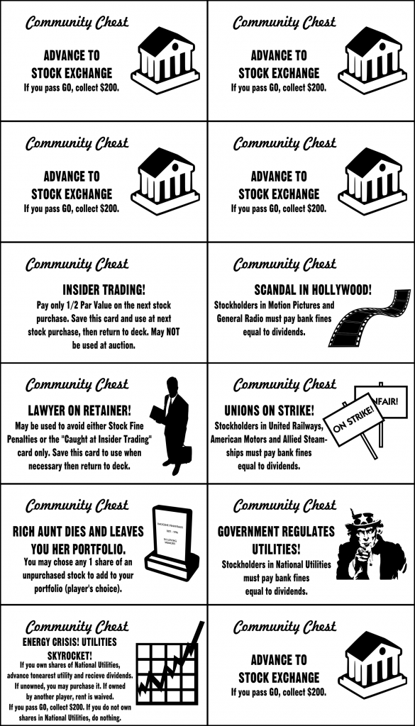Pinlaura Crain On It's My Turn | Monopoly Cards, Monopoly Party | Monopoly Chance And Community Chest Cards Printable