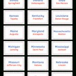 Pinmuse Printables On Flash Cards At Flashcardfox | States | State Capitals Flash Cards Printable