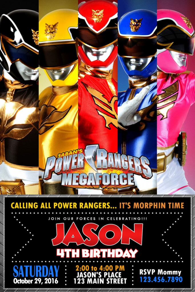 Pinoliviadollhouseatl On Power Rangers Party Activities In 2019 | Power Rangers Birthday Card Printable