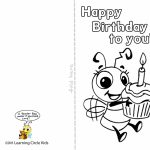Pinreader Bee On Birthday Celebration   Bee Style   Free   Printable Birthday Cards For Kids