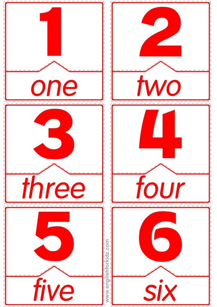Pinthakur Seemab On Numbers Print | Pinterest | Teach English To | Printable Number Words Flash Cards