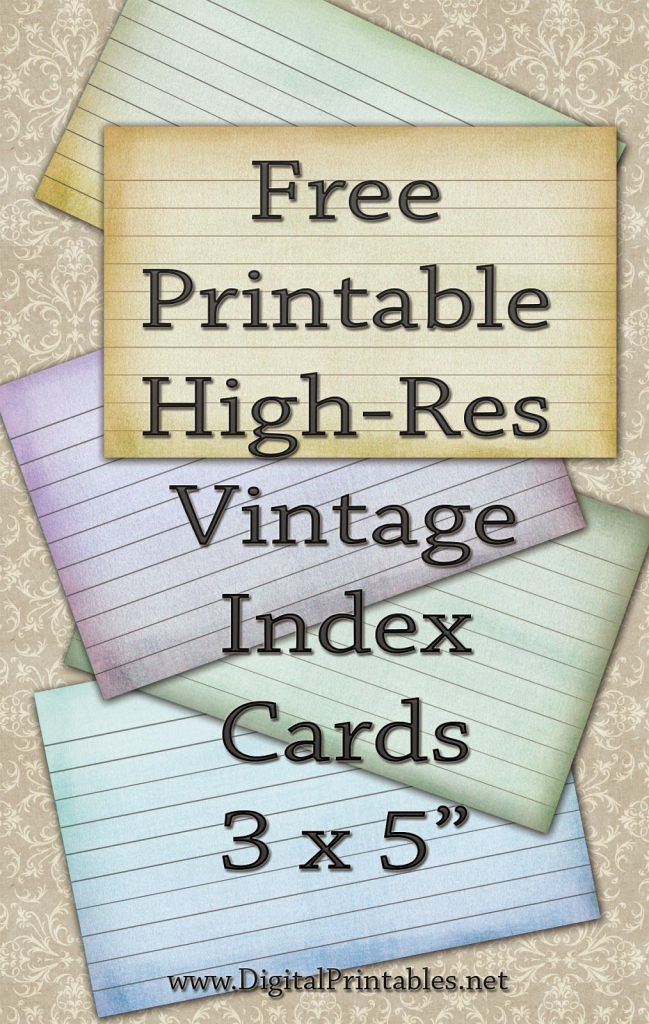 Pinthe Craft Booth | Christin Sander On Free Printables For Your | Free Printable Index Cards