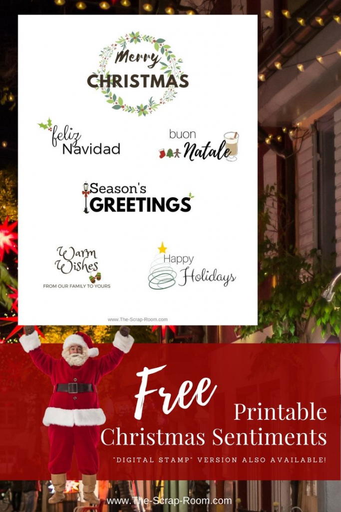 Pinthe Scrap Room - Diy & Craft Tutorials On Svg's Printables | Create Your Own Free Printable Christmas Cards