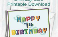 7Th Birthday Card Printable