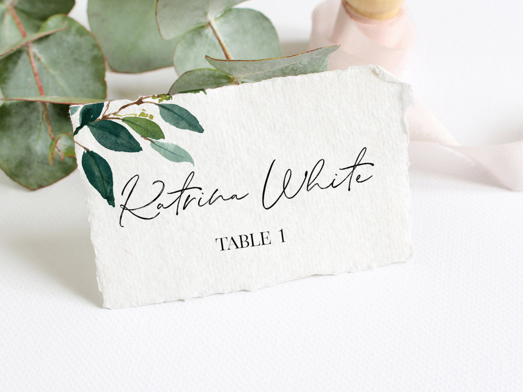 Place Card Template For Wedding Printable Wedding Place | Etsy | Printable Wedding Place Cards