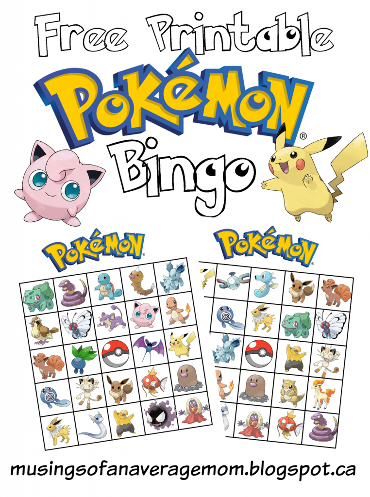 Pokemon Bingo | Bday Ideas #8 Pokemon | Pokemon Birthday, Pokemon | Pokemon Bingo Cards Printable