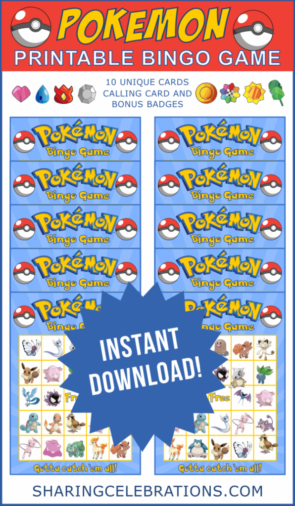 Pokemon Bingo Game (Pdf Files) In 2019 | Dimitri | Bingo Games | Pokemon Bingo Cards Printable