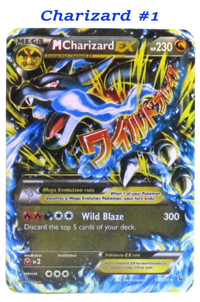 Pokemon Card Ex Mega Hand Made Plastic Laminated Cards Charizard | Printable Pokemon Cards Mega Ex
