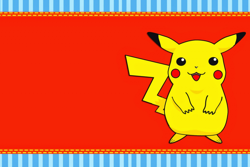 Pokemon: Free Printable Invitations. - Oh My Fiesta! For Geeks | Pokemon Birthday Card Printable