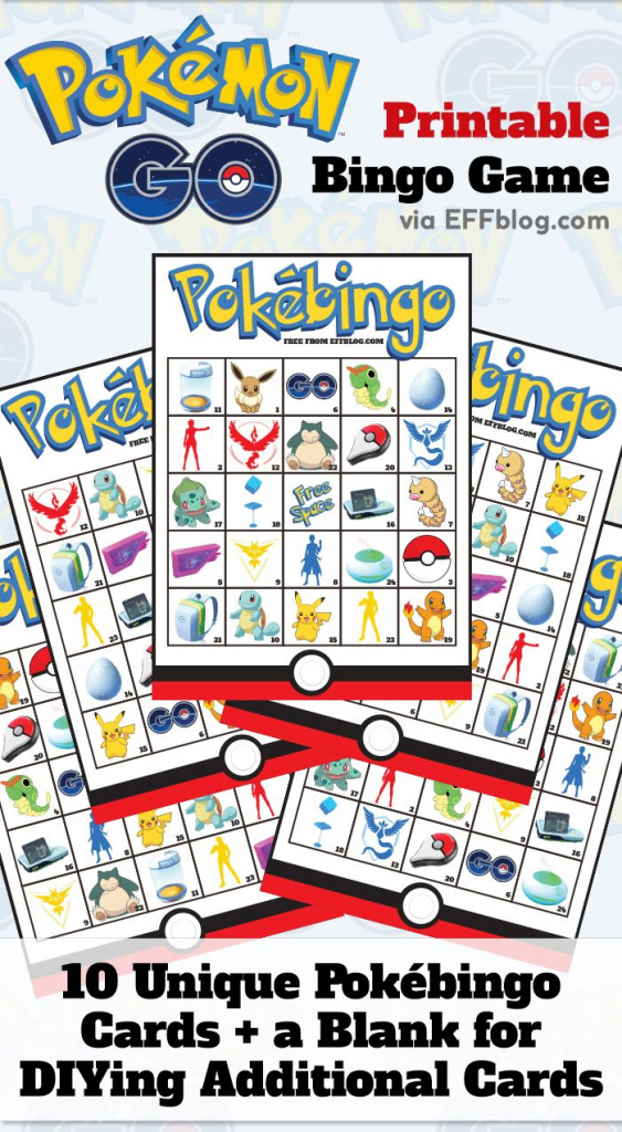 Pokémon Go: Pokébingo Free Printable Bingo Game | 18Th Birthday Cake | Pokemon Bingo Cards Printable