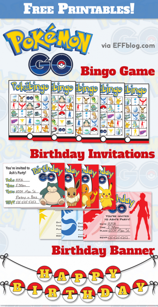 Pokémon Gopocalypse { A.k.a. A Slew Of Free Printables! } | Pokemon Bingo Cards Printable