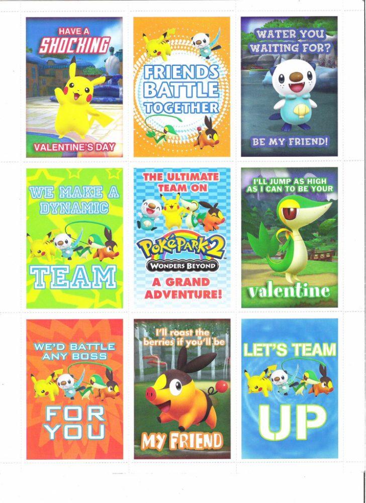 Pokemon Valentine Cards Printable