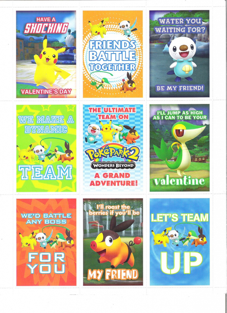 Pokemon Valentine Day Cards | Other Versions Of The Things I Like | Pokemon Valentine Cards Printable