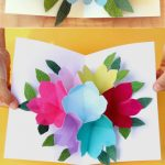 Pop Up Flowers Diy Printable Mother's Day Card   A Piece Of Rainbow | Free Printable Pop Up Birthday Card Templates