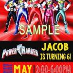 Power Ranger Printable Labels Power Rangers Birthday Card New   Power Rangers Birthday Card Printable