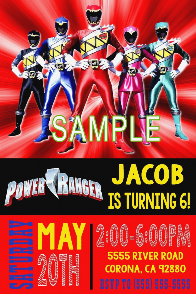 Power Ranger Printable Labels Power Rangers Birthday Card New | Power Rangers Birthday Card Printable