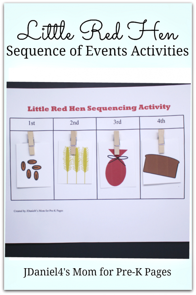 Practicing Sequencing Skills With The Little Red Hen - Pre-K Pages | Little Red Hen Sequencing Cards Printable