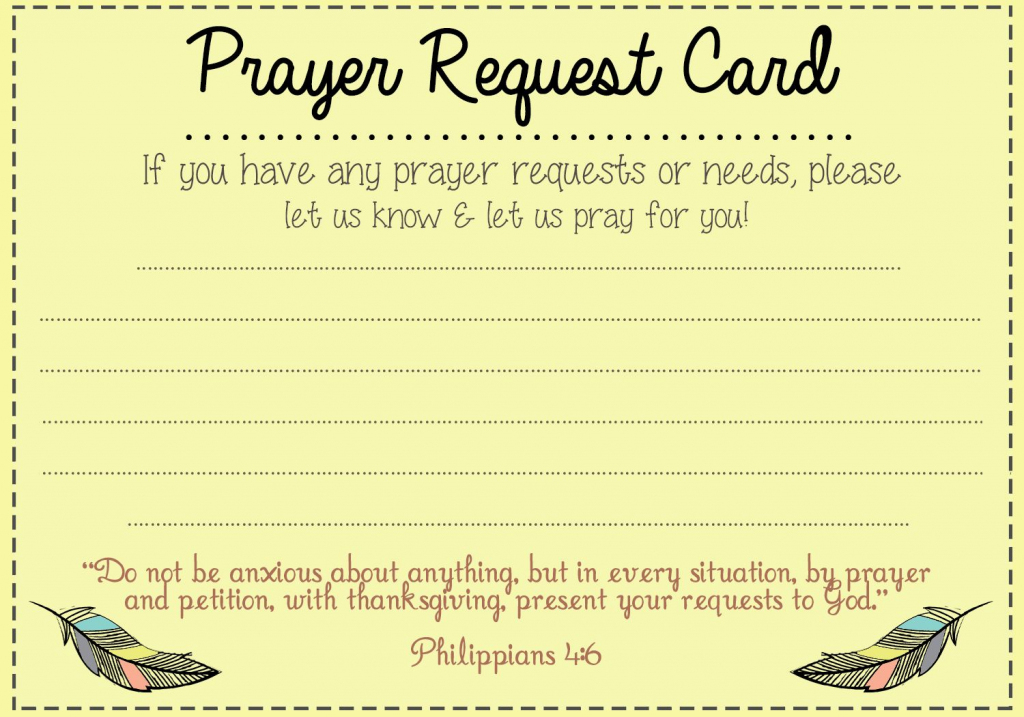 Prayer Request Card Idea | Mops | Prayer Ministry, Prayer For Church | Prayer Request Cards Printable