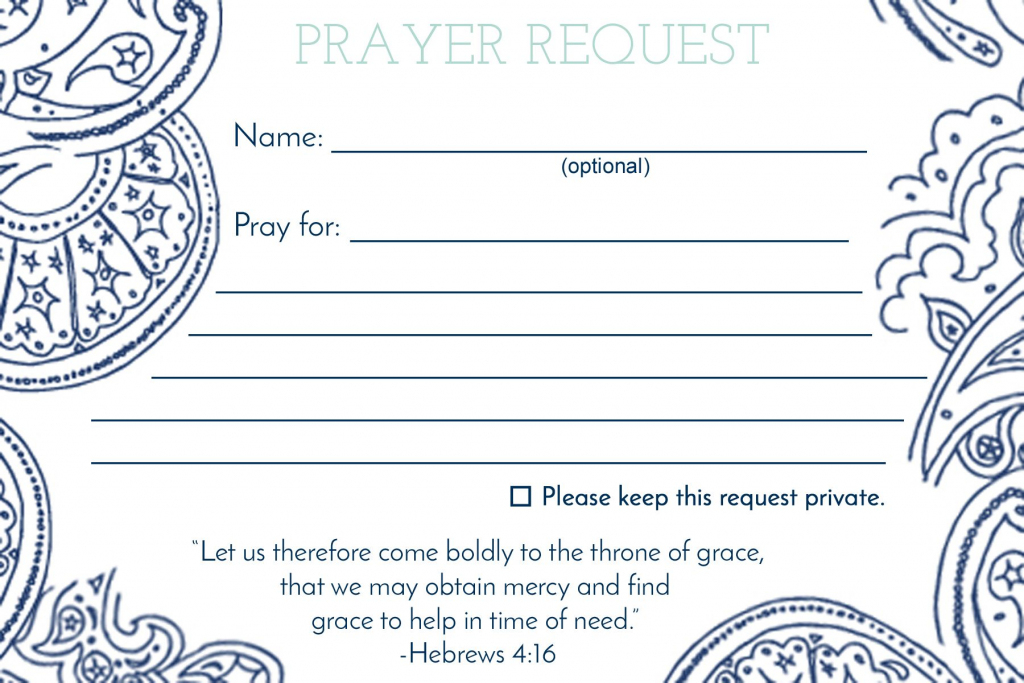 Prayer Request Card … | Mops | Praye… | Printable Prayer Request Cards