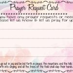 Prayer Request Cards | A Fierce Flourishing | Prayer Breakfast | Prayer Request Cards Printable