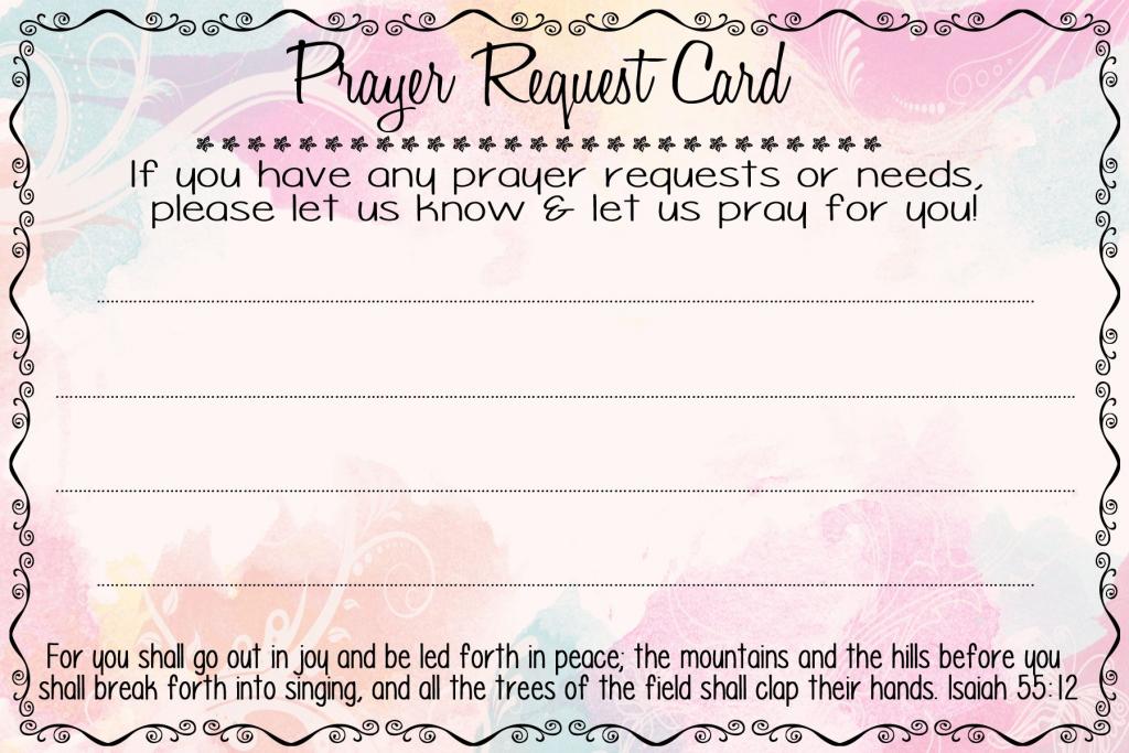 Prayer Request Cards | A Fierce Flourishing | Prayer Breakfast | Printable Prayer Request Cards