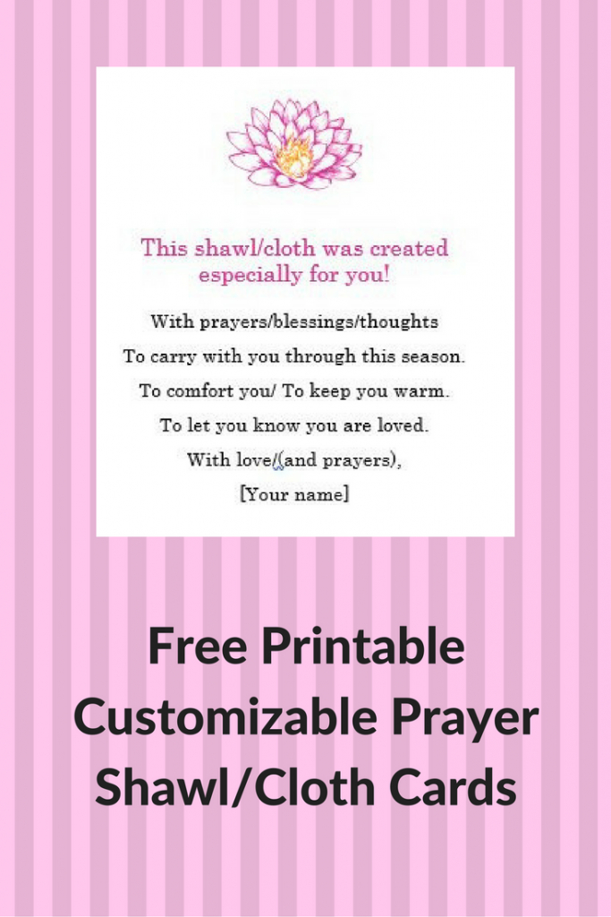 Prayer Shawl Cards: Free, Printable & Customizable | Crochet | Printable Prayer Shawl Cards