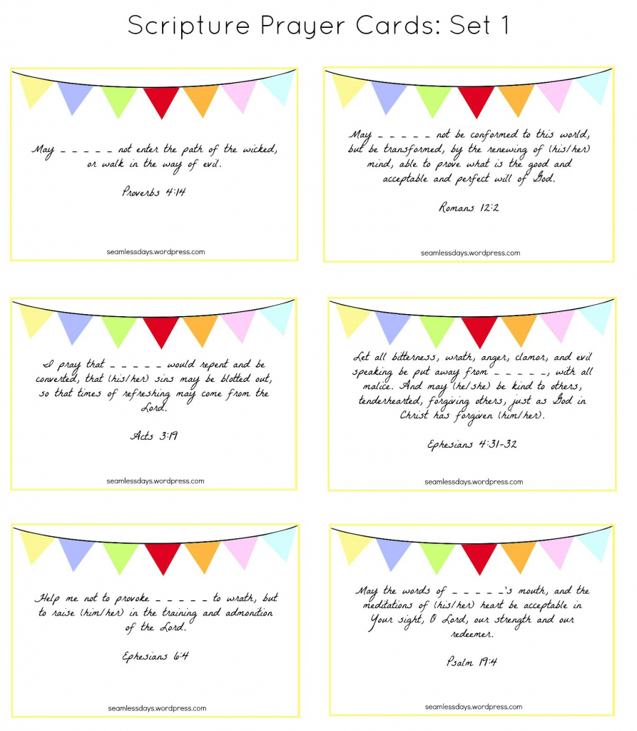 Praying For Your Children: A Free Printable | To Craft | Praying For | Free Printable Prayer Cards