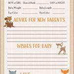 Prediction & Advice Cards   Printable Download   Forest Animals | Baby Prediction And Advice Cards Free Printable