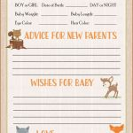 Prediction & Advice Cards   Printable Download   Forest Animals | Baby Shower Printable Prediction Cards